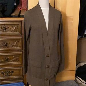 Button brown cardigan
